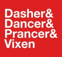Dasher&Dancer&Prancer&Vixen (Dark) Kids Clothes