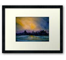 The Darkening Land... Framed Print