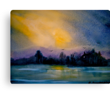 The Darkening Land... Canvas Print