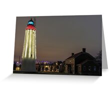 Christmas at Fort Gratiot Lighthosue Greeting Card