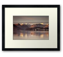 A Cold Morning On Ullswater Framed Print