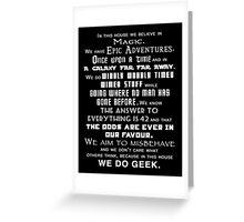 We do geek Greeting Card