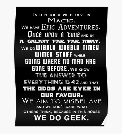 We do geek Poster