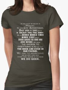 We do geek Womens Fitted T-Shirt