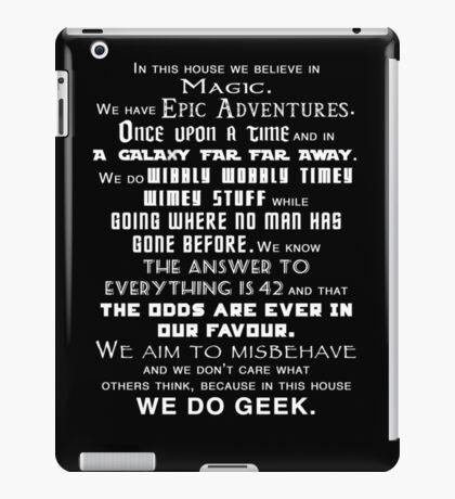 We do geek iPad Case/Skin