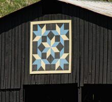 Kentucky Barn Quilt - Snow Crystals Sticker