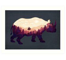 Rhinoscape Art Print