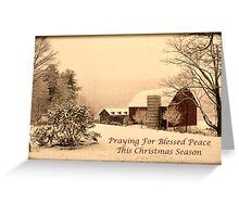 Vintage farm scene Greeting Card