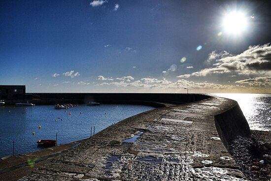 Harbour Wall At Lyme , Dorset,UK by lynn carter