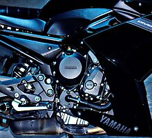 Yamaha Diversion F. Motor detail by htrdesigns