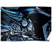 Yamaha Diversion F. Motor detail Poster