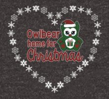 Owlbear Home for Christmas - Gamer Christmas (Snowflake Version ) by whimsyworks