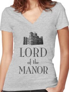 Lord of the Manor Women's Fitted V-Neck T-Shirt