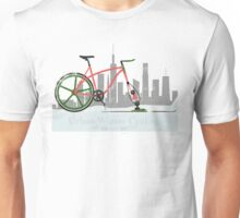 Urban Winter Cycling Unisex T-Shirt