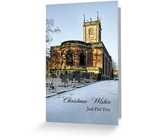 Card - St Modwen's Church, Burton - in the Snow  Greeting Card