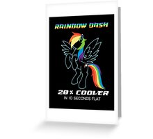 20% cooler Rainbow Dash Greeting Card