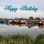 Card - Narrowboats at Barton Marina  by Rod Johnson