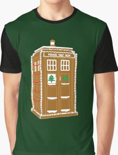 Gingerbread Tardis Graphic T-Shirt