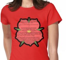 Scarlet Pimpernel - Sir Percy Blakeney's Poem Womens Fitted T-Shirt