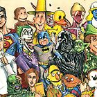 Pop Culture Ventriloquist Mashup by JohnnyGolden