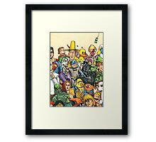 Pop Culture Ventriloquist Mashup Framed Print