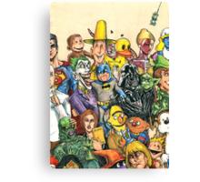 Pop Culture Ventriloquist Mashup Canvas Print