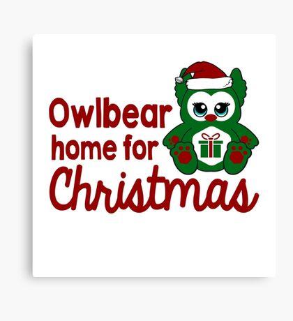 Owlbear Home for Christmas - Gamer Christmas  Canvas Print