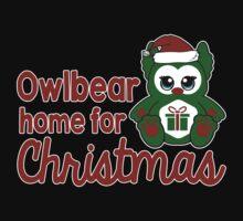 Owlbear Home for Christmas - Gamer Christmas  Kids Tee