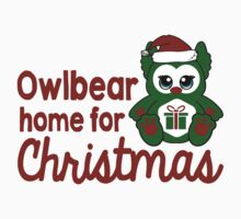 Owlbear Home for Christmas - Gamer Christmas  Kids Tee