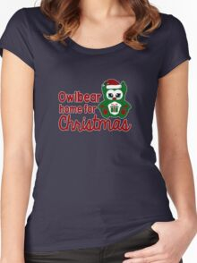 Owlbear Home for Christmas - Gamer Christmas  Women's Fitted Scoop T-Shirt