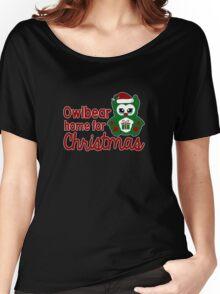Owlbear Home for Christmas - Gamer Christmas  Women's Relaxed Fit T-Shirt