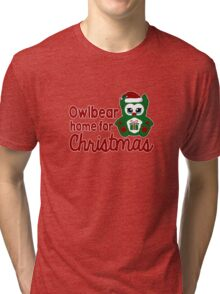 Owlbear Home for Christmas - Gamer Christmas  Tri-blend T-Shirt