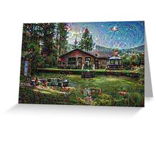Cabin in the Woods Machine Dreams Greeting Card