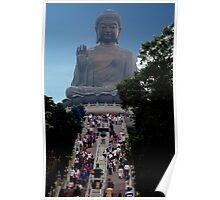 Pilgrims And Tourists Poster