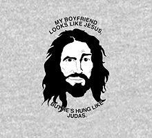 Looks Like Jesus; Hung Like Judas Unisex T-Shirt