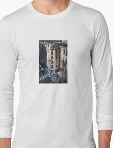French lovers at the cross-roads Long Sleeve T-Shirt