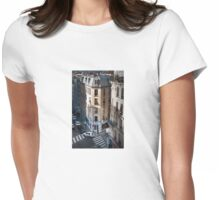 French lovers at the cross-roads Womens Fitted T-Shirt