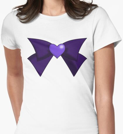 Super Sailor Saturn Bow Womens Fitted T-Shirt