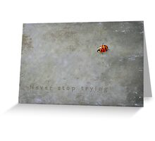 Never stop trying Greeting Card