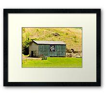Kentucky Barn Quilt - Americana Star Framed Print