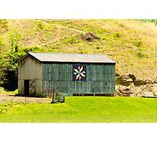 Kentucky Barn Quilt - Americana Star Photographic Print