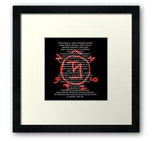 Supernatural Exorcism! And Angel Warding Framed Print