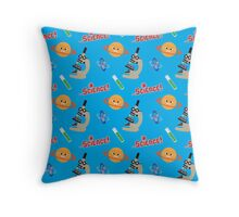 Science! Mascot Characters Throw Pillow