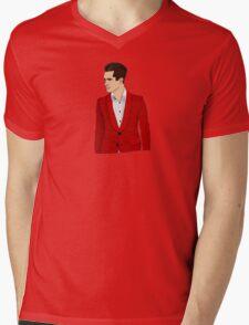 Red Suit Mens V-Neck T-Shirt