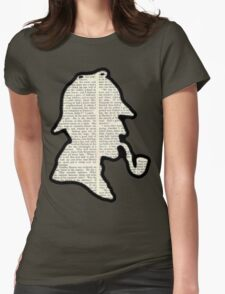 Classic Sherlock Holmes Silhouette - Scandal in Bohemia Womens Fitted T-Shirt
