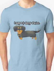 Derpy Doxies (Black and Tan) T-Shirt