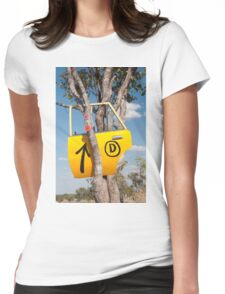 Door in a tree Womens Fitted T-Shirt