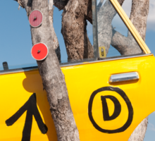 Door in a tree Sticker