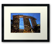 Marina Bay Sands Hotel, Singapore, at Sunset Framed Print