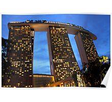 Marina Bay Sands Hotel, Singapore, at Sunset Poster